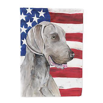 Carolines Treasures  SC9021-FLAG-PARENT USA American Flag with Weimaraner Flag