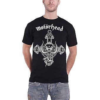 Motorhead T Shirt warpig Rosary band logo new Official Mens Black