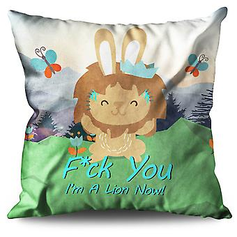 Bunny Cat Lion Cool Linen Cushion 30cm x 30cm | Wellcoda