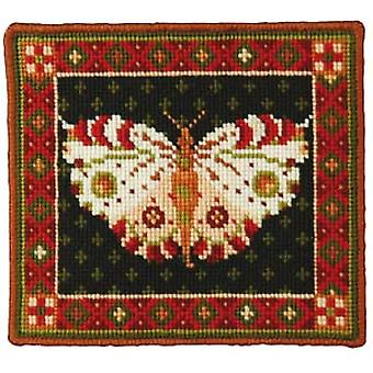 White Butterfly Needlepoint Kit