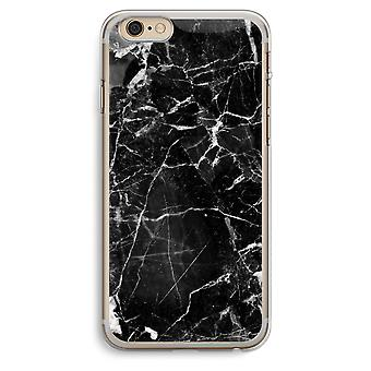 iPhone 6 Plus / 6S Plus Transparent Case (Soft) - Black Marble 2