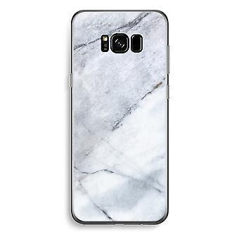 三星銀河 S8 プラス透明ケース (ソフト) - マーブル ホワイト