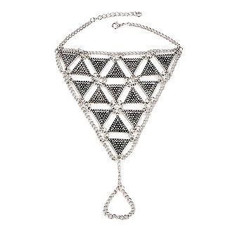 Bohemian Triangle Foot Jewel in Stainless Steel 7010