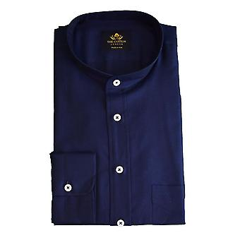 Canclini navy marine band collar shirt