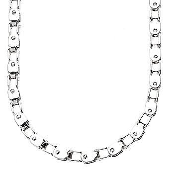 Iced out bling solid BOX chain - LINK 5mm silver