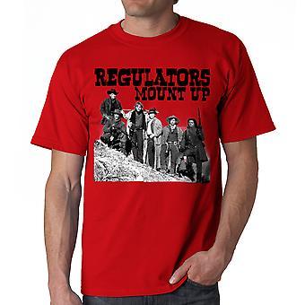 Young Guns Mount Up Men's Red T-shirt