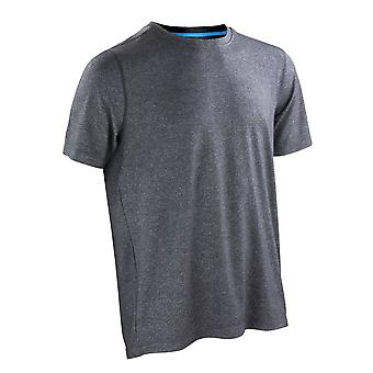 Spiro Mens Fitness Shiny Marl T Shirt