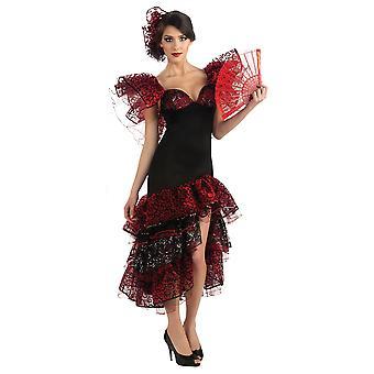 Flamenco Dancer Spanish Senorita Women Costume