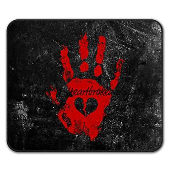 Heart Break Cool  Non-Slip Mouse Mat Pad 24cm x 20cm | Wellcoda