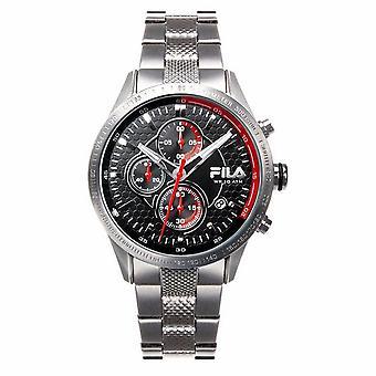 Fila Herren Uhr Chronograph Edelstahl FA38-001-002