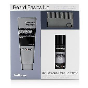 Anthony Beard Noțiuni de bază Kit: 1X conditionat spalatorie barba 177ml 1X pre-Shave + conditionat ulei de barba 59ml 1X pieptene barbă-3pcs
