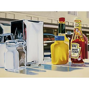 The Diner Poster Print by Sergio Galli (32 x 24)