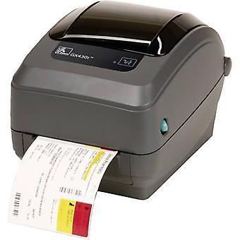Zebra GX430T Label printer Thermal transfer 300 x 300 dpi Max. label width: 110 mm USB, RS-232, Parallel