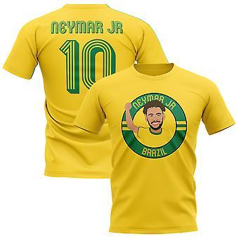 Neymar Jr Brasilien Illustration T-Shirt (gelb)