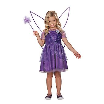 Fairy Viola lilla dress jenta barn kostyme fairy kjole