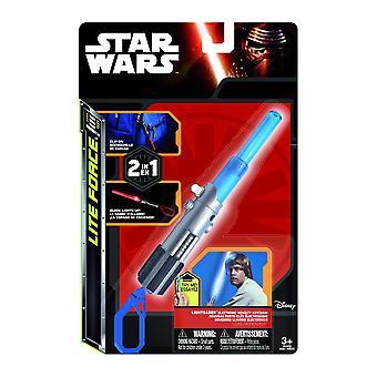 Star Wars spada laser clip plastica multicolor, Luke, con luce a LED, in confezione regalo.