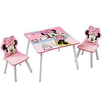 Puinen pöytä ja 2 tuolia Disney Minnie
