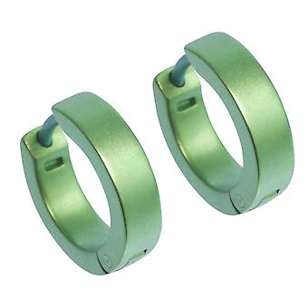 Ti2 Titanium Flat Hoop Cuff Earrings - Fresh Green