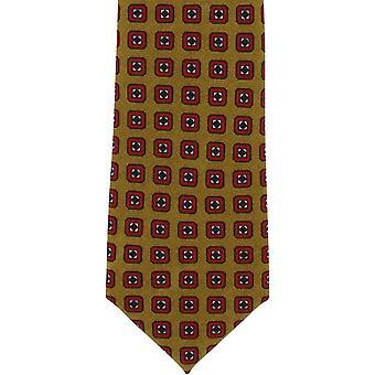 Michelsons of London Neat Wool Tie - Mustard