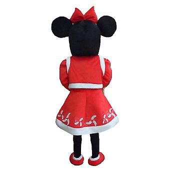SPOTSOUND of Minnie Mouse mascot, dressed in Christmas clothes