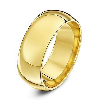 Anneaux de mariage Star 9ct jaune or lourds Cour forme 8mm bague de mariage