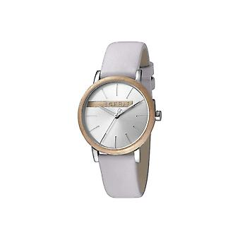ESPRIT Ladies Watch Watches Quartz Analogue Plywood Silver Light Gray