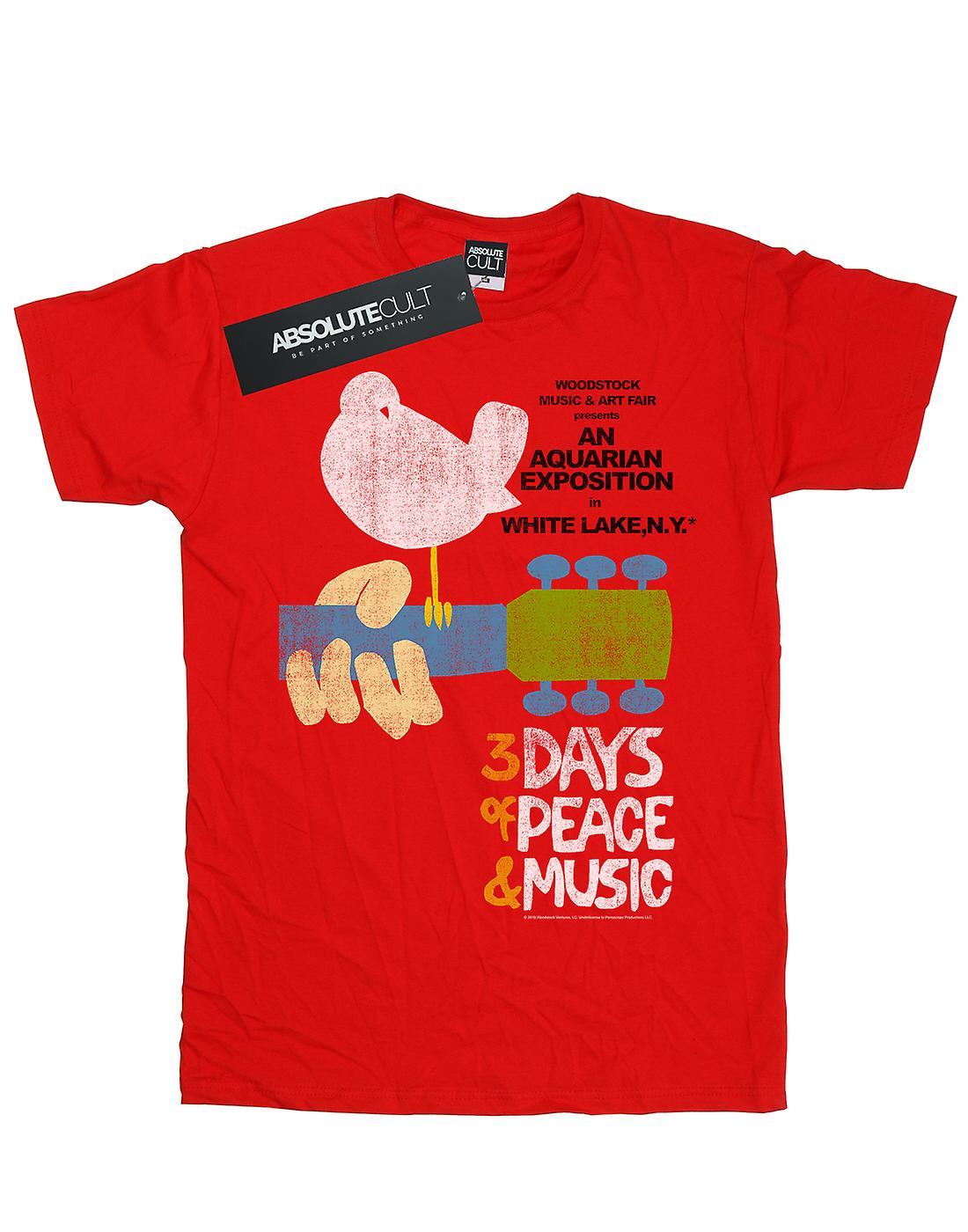 Woodstock Women's Festival Poster Boyfriend Fit T-Shirt