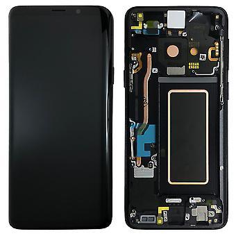 Samsung näyttö LCD täydellinen asettaa GH97 21691A musta / midnight black Galaxy S9 Plus G965F / S9 plus duo G965FD