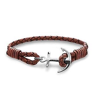 Tom Hope Cognac Brown Sterling Silver Bracelet Large TM0222