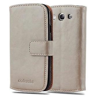 Cadorabo sag for Samsung Galaxy S3 / S3 NEO sag sag dække - telefon sag med magnetisk lås, stå funktion og kortrum - Sag Cover Beskyttende sag Bog Folding Style
