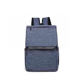 Moderne lærred rygsæk med top låg-blå