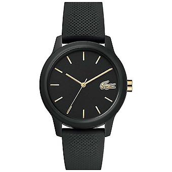 Lacoste 12.12 Womens | Black Silicone Strap | Black Dial | 2001064 Watch