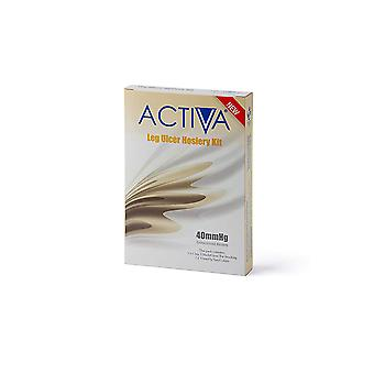 ACTIVA HOSIERY KIT BLACK 40MMHG XXLGE