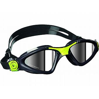 Aqua Sphere Kayenne Swim Goggle - Mirrored Lenses - Grey/Lime