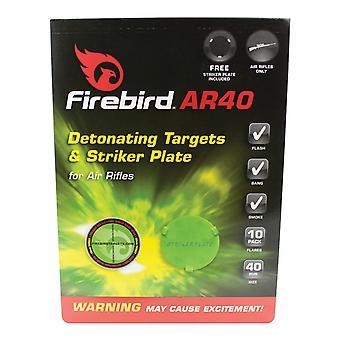 Firebird aire Flash reactivos objetivos de 40mm verde - paquete de 10 objetivos que