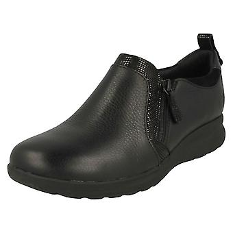 Ladies Clarks Unstructured Slip On Shoes Un Adorn Zip