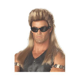Mens Dog the Bounty Hunter Blonde Wig TV Fancy Dress Costume Accessory