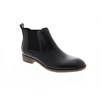 Robert Wayne Oklahoma Mens Black Mid Top Slip On Chelsea Boots