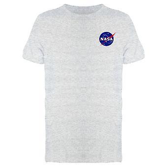ناسا Meatball شعار الفضاء نجوم Grunge نمط فو جيب الرجال وapos;s تي شيرت