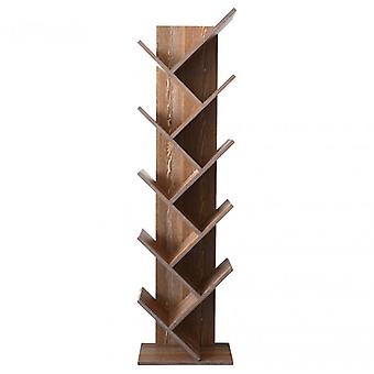Muebles Rebecca Shelf Library 10 Brown Wood Shelves Design 160x44.5x22