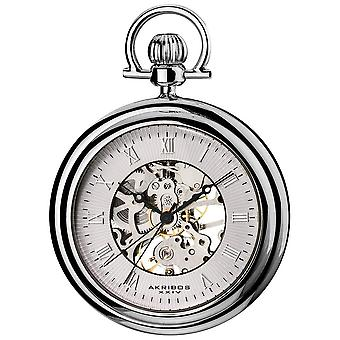 Akribos XXIV Men es Mechanical Stainless Pocket Watch AK453SS