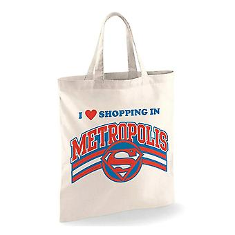 Superman winkelen in Metropolis Tote Bag