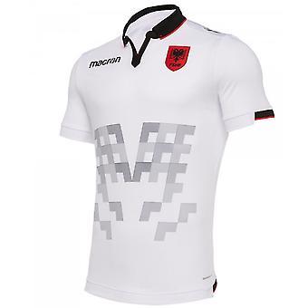 2019-2020 ألبانيا بعيدا ماكرون قميص كرة القدم