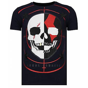 God Of War-Rhinestone T-shirt-Navy