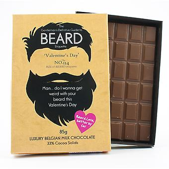 Funny Valentine's Day Gift for Bearded Men Beard Lover Present Chocolate Greeting Card BTQ119