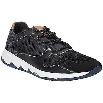 Hush Puppies Mens Field Knit Lace Up Trainer