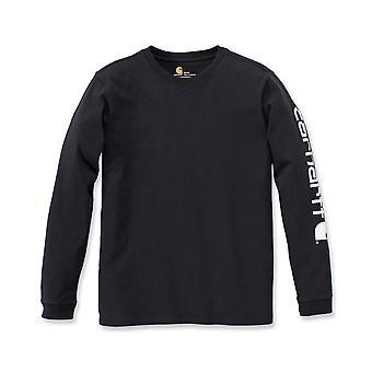 Carhartt Women's Long Sleeve Shirt Workwear Sleeve Logo