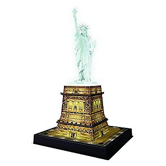 Ravensburger-Statue of Liberty Nacht Edition - 108pc 3D Jigsaw Puzzle