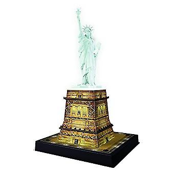 Ravensburger estátua da liberdade Night Edition-108pc 3D quebra-cabeça