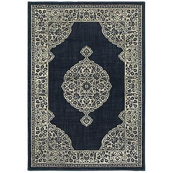 Linden 7937a navy/ grey indoor area rug rectangle 5'3